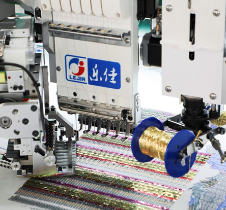LJ-618+18 Multi-function coiling/taping embroidery machine with sequin device